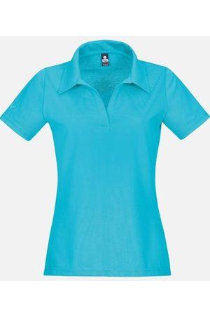 Trigema Heren Poloshirts - Slim Fit Dames Poloshirt turquoise, Effen