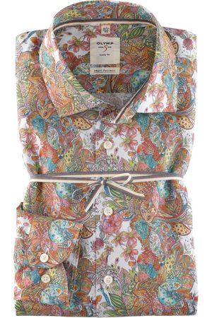 Olymp Heren Zakelijk - Level Five smart business Body Fit Overhemd veelkleurig, Paisley
