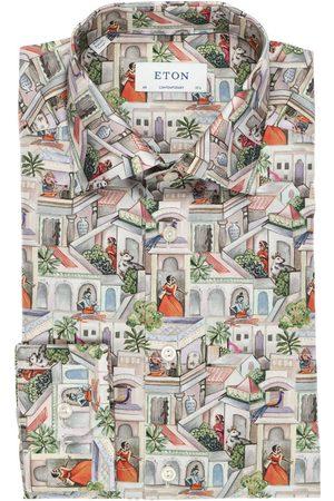 Eton Heren Lange mouwen - Contemporary Fit Overhemd veelkleurig, Motief