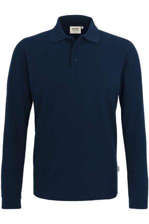 HAKRO Heren Lange mouw - 820 Regular Fit Poloshirt lange mouw nachtblauw, Effen