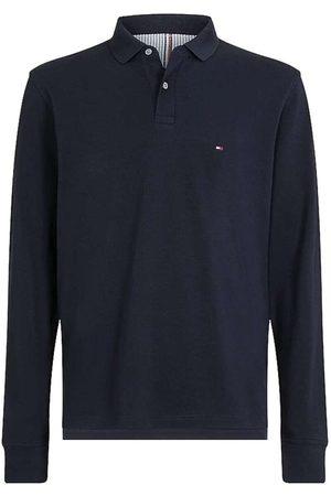 Tommy Hilfiger Heren Lange mouw - 1985 Regular Fit Poloshirt lange mouw nachtblauw, Effen
