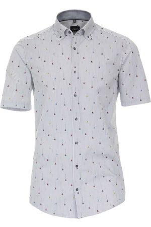 Venti Heren Korte mouwen - Modern Fit Overhemd Korte mouw , Gestreept