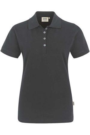 HAKRO Heren Poloshirts - 222 Regular Fit Dames Poloshirt antraciet, Effen