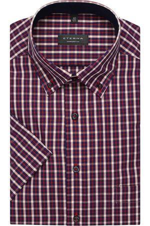 ETERNA Heren Korte mouwen - Comfort Fit Overhemd Korte mouw / , Ruit