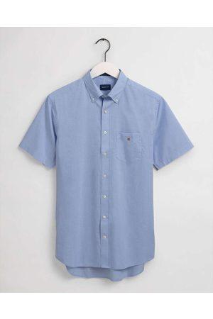 GANT Heren Korte mouwen - Regular Fit Overhemd Korte mouw , Effen