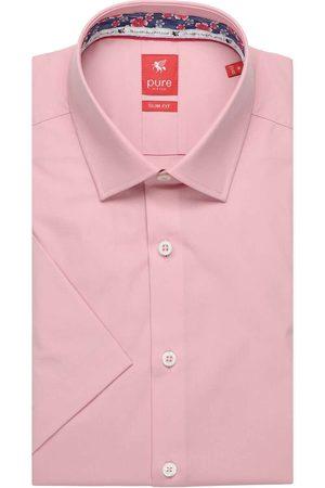 Pure Heren Korte mouwen - Slim Fit Overhemd Korte mouw , Effen
