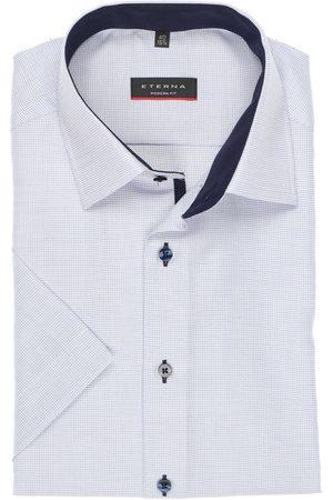 ETERNA Heren Korte mouwen - Modern Fit Overhemd Korte mouw / , Gestructureerd