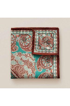 Eton Heren Pochetten - Pochette turquoise, Paisley