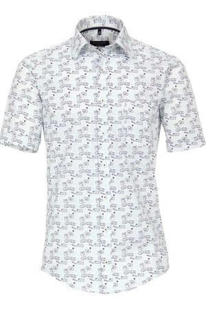 Casa Moda Heren Korte mouwen - Casual Fit Overhemd Korte mouw donkerblauw, Motief