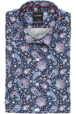 Olymp Heren Korte mouwen - Luxor Modern Fit Overhemd Korte mouw marine/ , Paisley