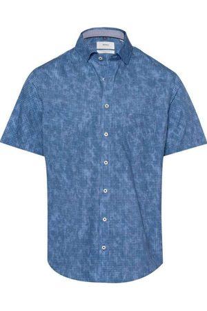 Brax Heren Korte mouwen - Modern Fit Overhemd Korte mouw , Motief