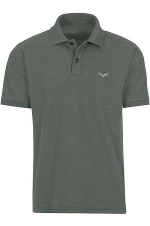 Trigema Heren Korte mouw - Comfort Fit Polo shirt Korte mouw olijf, Effen