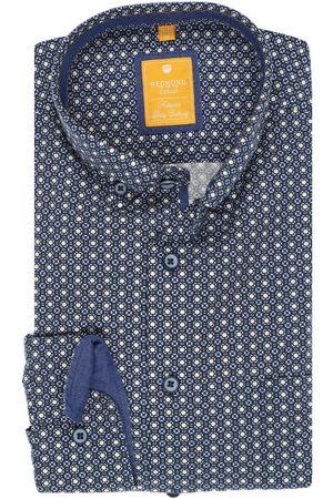 Redmond Heren Casual - Casual Modern Fit Overhemd / , Motief