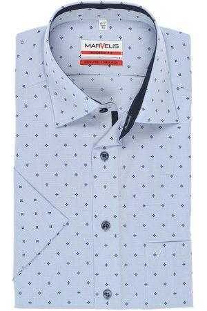 Marvelis Heren Korte mouwen - Modern Fit Overhemd Korte mouw /navy, Motief