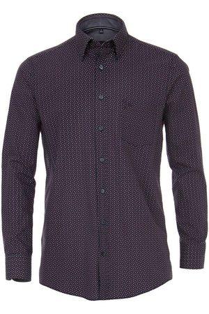 Casa Moda Heren Lange mouwen - Comfort Fit Overhemd marine/ / , Motief