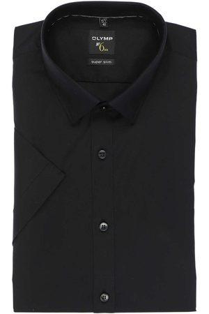 Olymp Heren Korte mouwen - No. Six Super Slim Overhemd Korte mouw , Effen