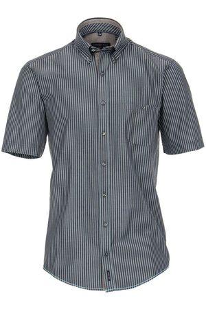 Casa Moda Heren Korte mouwen - Casual Fit Overhemd Korte mouw antraciet, Gestreept