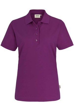 HAKRO Heren Poloshirts - 216 Regular Fit Dames Poloshirt aubergine, Effen