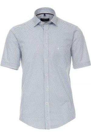 Casa Moda Heren Korte mouwen - Casual Fit Overhemd Korte mouw turquoise, Motief