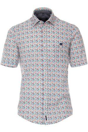 Casa Moda Heren Korte mouwen - Casual Casual Fit Overhemd Korte mouw /turquoise, Motief