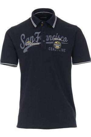 Casa Moda Heren Korte mouw - Casual Casual Fit Polo shirt Korte mouw marine, Effen
