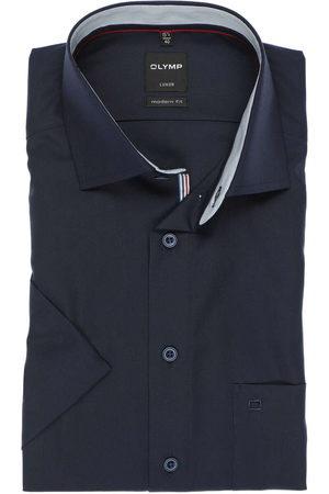 Olymp Heren Korte mouwen - Luxor Modern Fit Overhemd Korte mouw kobalt, Effen