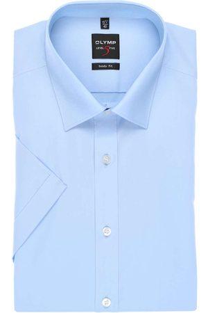 Olymp Heren Korte mouwen - Level Five Body Fit Overhemd Korte mouw lichtblauw, Effen
