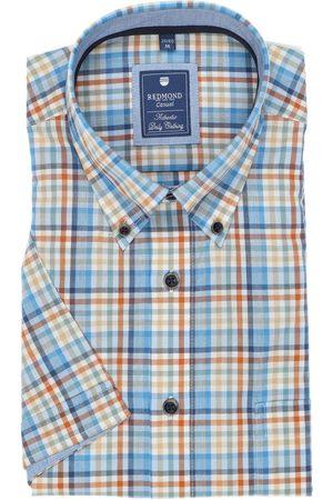 Redmond Heren Korte mouwen - Casual Regular Fit Overhemd Korte mouw / / , Ruit