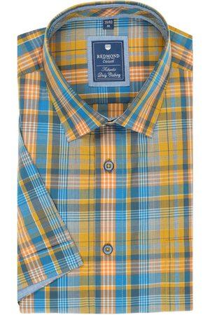 Redmond Heren Korte mouwen - Regular Fit Overhemd Korte mouw / , Ruit