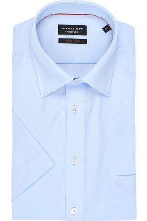 Jupiter Heren Korte mouwen - Modern Fit Overhemd Korte mouw lichtblauw, Effen