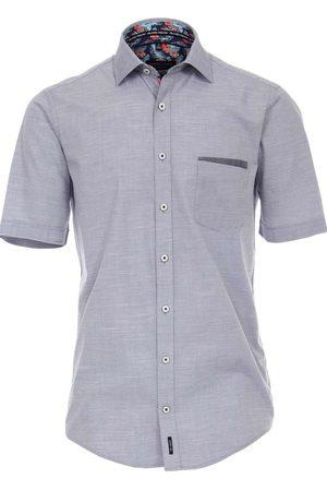 Casa Moda Heren Korte mouwen - Casual Fit Overhemd Korte mouw donkerblauw, Effen