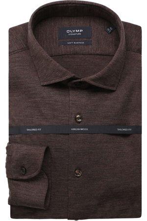 Olymp Heren Zakelijk - Soft Business Tailored Fit Overhemd , Effen