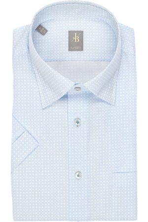 Jacques Britt Heren Korte mouwen - Custom Fit Overhemd Korte mouw lichtblauw, Motief