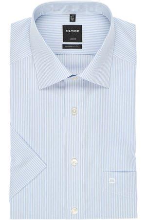 Olymp Heren Korte mouwen - Luxor Modern Fit Overhemd Korte mouw , Gestreept