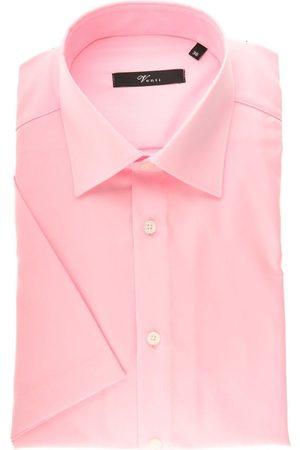 Venti Heren Korte mouwen - Modern Fit Overhemd Korte mouw roos, Effen