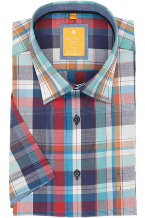Redmond Heren Korte mouwen - Casual Modern Fit Overhemd Korte mouw , Ruit