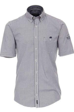 Casa Moda Heren Korte mouwen - Casual Fit Overhemd Korte mouw donkerblauw, Ruit