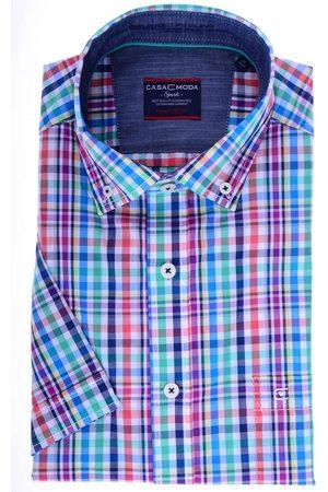 Casa Moda Heren Korte mouwen - Comfort Fit Overhemd Korte mouw / / , Ruit