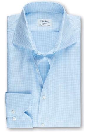 Stenströms Heren Lange mouwen - Slimline Overhemd lichtblauw/ , Pied De Poule