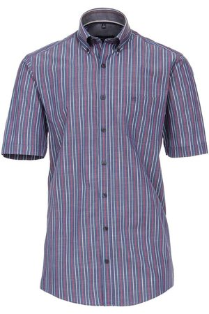 Casa Moda Heren Korte mouwen - Comfort Fit Overhemd Korte mouw , Gestreept