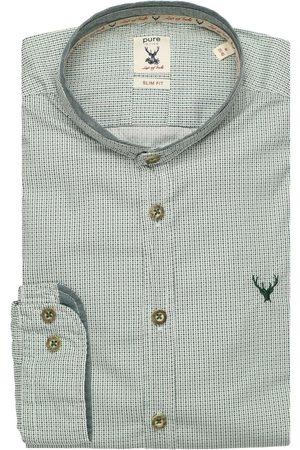 Pure Slim Fit Traditioneel overhemd spar, Motief