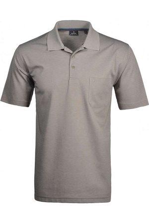 Ragman Heren Korte mouw - Softknit Regular Fit Polo shirt Korte mouw - , Gestreept