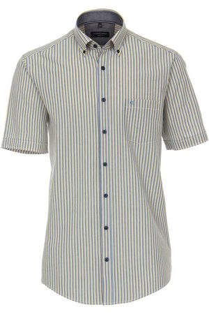 Casa Moda Heren Korte mouwen - Casual Casual Fit Overhemd Korte mouw / , Gestreept
