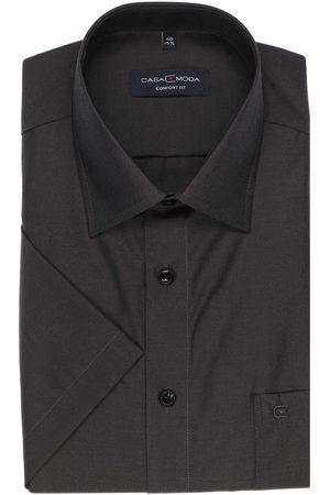 Casa Moda Heren Korte mouwen - Comfort Fit Overhemd Korte mouw antraciet, Effen