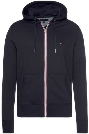 Tommy Hilfiger Heren Lange mouw - Regular Fit Hooded sweatshirt nachtblauw, Effen