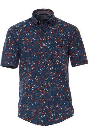 Casa Moda Casual Casual Fit Overhemd Korte mouw donkerblauw/ , Motief