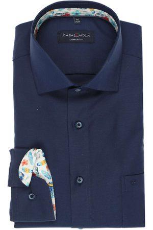 Casa Moda Heren Lange mouwen - Comfort Fit Overhemd donkerblauw, Effen