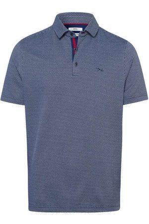 Brax Heren Korte mouw - Modern Fit Polo shirt Korte mouw oceaan, Motief