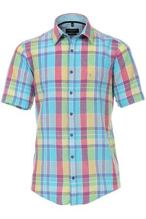 Casa Moda Heren Korte mouwen - Casual Casual Fit Overhemd Korte mouw turquoise, Ruit