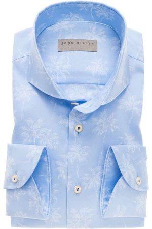 john miller Heren Lange mouwen - Tailored Fit Overhemd , Motief